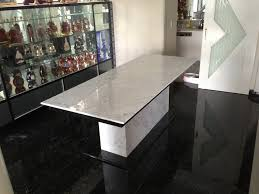 Dining Table Bases For Granite Tops Furniture White Marble Granite Top Table And Base With Glass