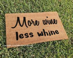 drink wine door mat etsy