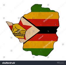 Zimbabwe Map Zimbabwe Map On Zimbabwe Flag Drawing Stock Illustration 116579494