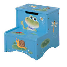 wooden step stool w storage magical pond potty training concepts