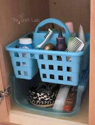 Bathroom Sink Organizer by Dollar Store Bathroom Organizing The Crazy Craft Lady