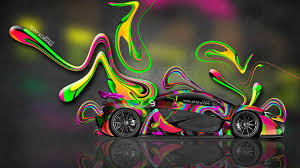 mclaren p1 side view tony kokhan mclaren p1 side multicolors abstract aerography