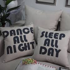 18 square dance all night sleep all day throw pillow car cushion lovely