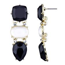 white earrings adelina s black and white cz fancy drop earrings