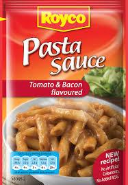 royco types pasta sauces