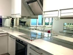credence en miroir pour cuisine credence miroir cuisine verre salle