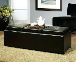 leather tray top ottoman awesome leather ottoman with tray top designs4comfort faux leather
