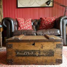 antique military chest storage trunk table vintage wwi footlocker