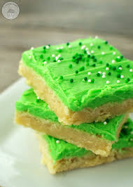 st patrick u0027s day sugar cookie bars over the big moon