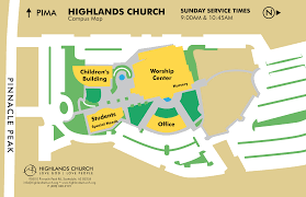 Map Of Scottsdale Arizona by Attend A Service Highlands Church