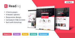 Html5 Templates For Books | e reading book store html5 theme by kopasoft themeforest