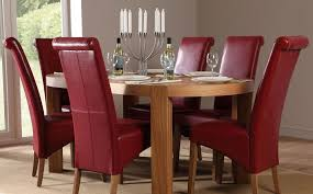 dining room modern table and chair with 6 parsons chairs leather