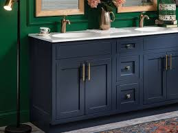 what color hardware for navy cabinets navy cabinets in bathroom help with hardware