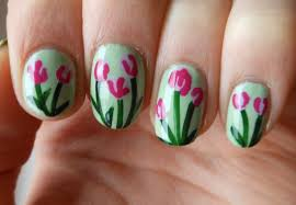 gelic nail art red tulip funky french for hungary african tulip