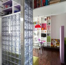 Floor To Ceiling Wall Dividers by Frosted Glass Tile With Cabinet As Room Divider White Wooden