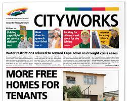 design header paper cct cityworks newspaper header design skyboy design cape town