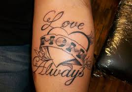 love you mom mother tattoo