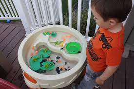 frog pond sensory play and nature exploration