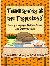 thanksgiving at the tappletons literacy writing craftivity drama