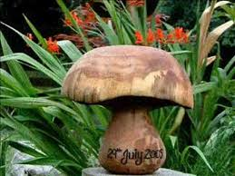 engraved wooden garden ornament sculpture uk wood garden