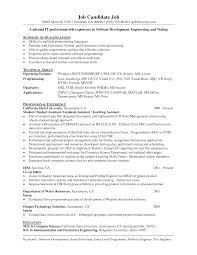 Resume Summary Examples For Software Developer Objective For Java Developer Resume Networking Resume