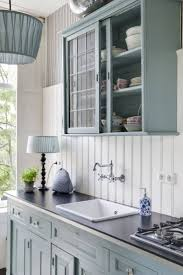 kitchen blue kitchens with oak cabinets blue gray paint colors