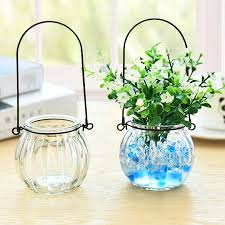 aliexpress com buy modern clear flower glass hanging vase 5 7 5