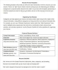 Word Formatted Resume Resume In Word Template 19 Free Word Pdf Documents Download