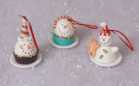 peppermint gingerbread sweet ornaments