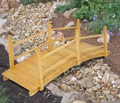 yard bridge collection in wood garden decor garden bridge wood outdoor ft yard