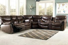 Plush Leather Sofas by Ashley Furniture Sectionals With Recliners Small Leather