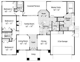 House Plans With 4 Bedrooms 4 Bedroom House Plans Nrtradiant Com
