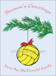 waterpolo ornament card details