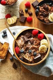 comment cuisiner du quinoa chocolate quinoa breakfast bowl minimalist baker