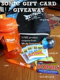 sonic gift cards giveaway 20 sonic gift card and free wholly guacamole product
