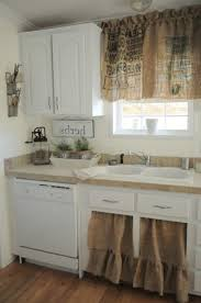 Burlap Ruffle Curtain Burlap Kitchen Curtains Burlap Kitchen Curtains Designing Ideas