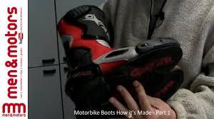 motorbike footwear motorbike boots how it u0027s made part 1 youtube