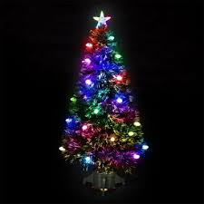 buy 4ft frosted bauble fibre optic tree with 140 leds from
