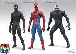 medicom toy spider man 3 spiderman black suit version