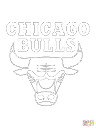 chicago bulls logo coloring page in coloring pages eson me