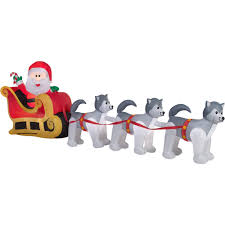 gemmy airblown inflatables santa and dogsled