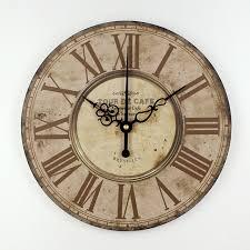 home decor absolutely mute quartz wall clock retro roman numerals