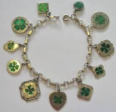 lucky leaf bracelet images 405 best vintage charms shamrocks clovers images jpg
