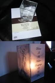 Dollar Store Cylinder Vases Table Centerpiece Lanterns Prints On Vellum Paper Put Inside