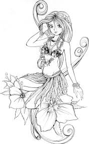 hawaiian coloring pages bestofcoloring com