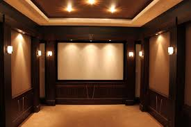 minimalist home theatre design for family gathering spot