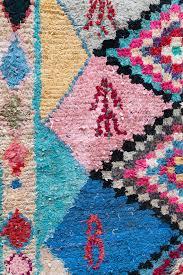 vintage moroccan boucherouite rug the elsie pink by loomandfield