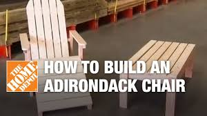 How To Build Outdoor Furniture by How To Build An Adirondack Chair Youtube