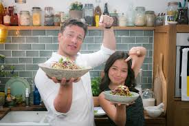 crunchy rainbow coleslaw with jamie oliver cook with amber