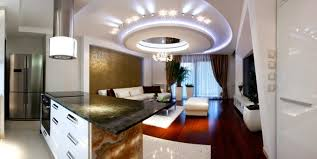 Modern Ceiling Design For Kitchen Luxurious Kitchen Plan With Shining Gypsum Ceiling Design And